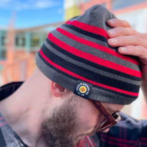 Knit Hat with Logo Patch